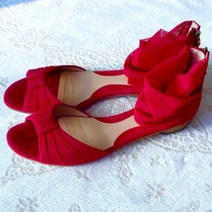 Fendi Chiffon Wrap Sandals